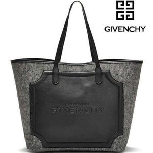 Givenchy VIP Gift Black Faux Leather Grey Tote Bag